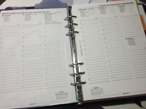 This is actually my work planner, but the calendar will be different for next year. Geeks unite!